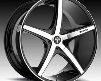 """22"""" Dub Rio 5 Wheels Rims Fits Mercedes S63 S65 Gla250 Gla45 / Fits Audi Q5 Q7"""