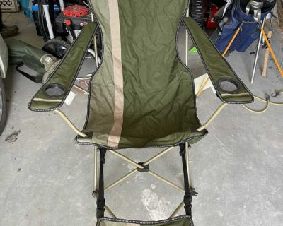 Coleman camping chairs with foot rest