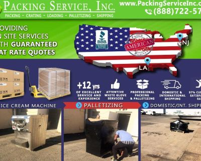 Packing Service, Inc. Shipping Services with Wooden Boxes and Industrial Crating - Lake Charles, Lou