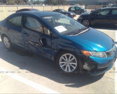 Salvage Blue 2012 Honda Civic Sdn