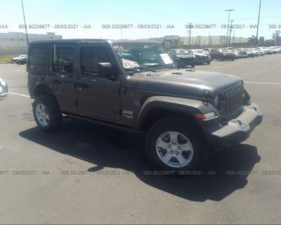 Salvage Gray 2018 Jeep Wrangler Unlimited