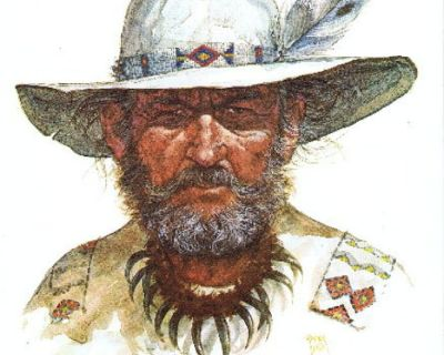 """Mountain Man"" Litho - Artist Ron Raymer - 1979 - Signed - Unframed"