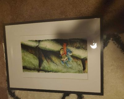 Framed Labyrinth Picture