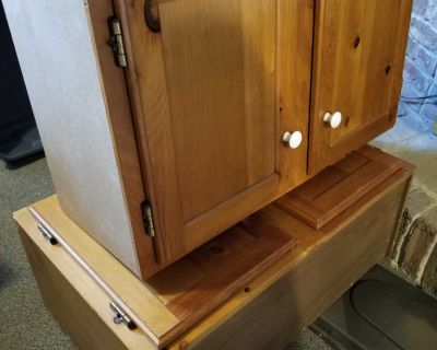 3 Cupboards for kitchen garage or laundry