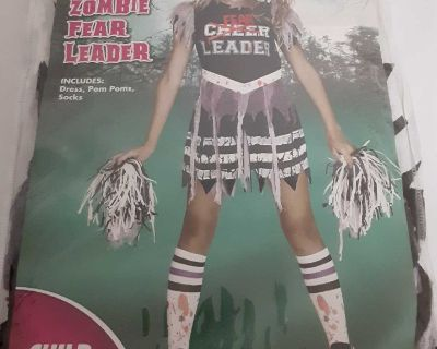 Fear cheer leader zombie costume small sizenew