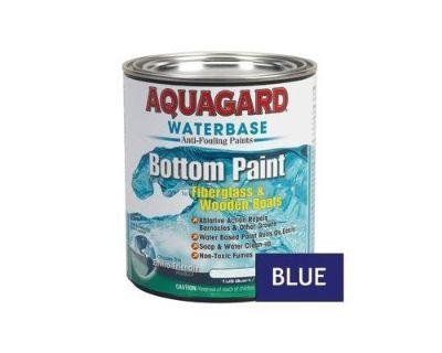 Aquagard Waterbase Antifouling Bottom Paint Fiberglass/wooden Boats Blue Quart