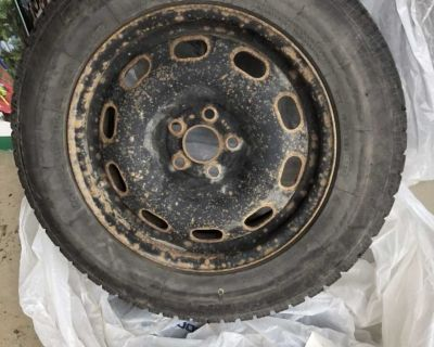 4 uniroyal winter tires w rims. Used on Toyota Corolla