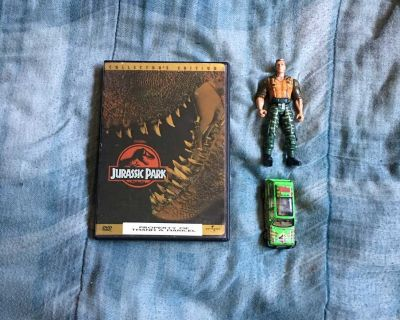 Lot Of Jurassic Park DVD And Toys