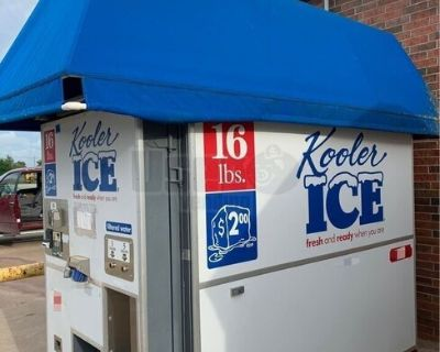 Used 2012 Kooler Ice Bagged Bulk Ice and Filtered Water Vending Machine