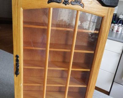 all wood display cabinet