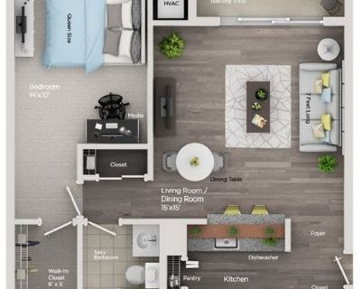 One Bedroom In Detroit Downtown