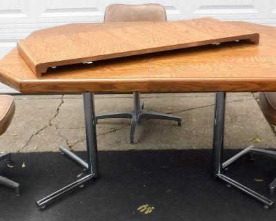 Kitchen Dining Table w/ Leaf & 3 Chairs
