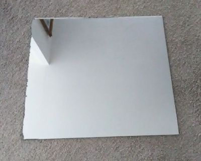 "Vintage Mirror - Frameless -  25"" x 27 3/4"""