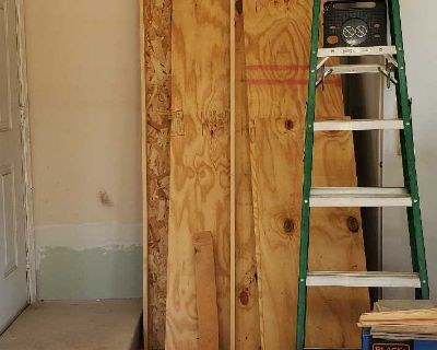 """Lot of Wood - Approximately 8 ft long about 4 pieces 1/2"""" thick"""