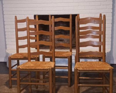 Set of 5 Cane Bottom Chairs