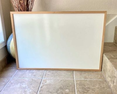 Solid Wood Frame Non-Magnetic Dry Erase White Board - 35 x 23 X W/H/D