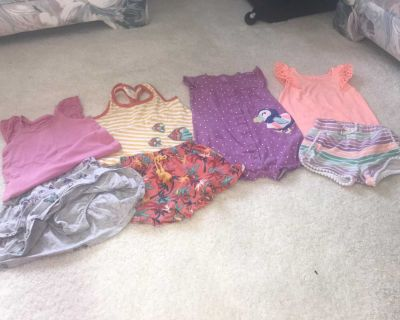 Size 24 months 8 pc (1 free due to a tiny spot) Rare Editions, Carters, and Jumping Beans clothing