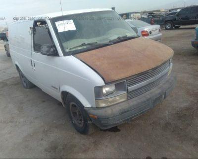 Salvage White 2002 Chevrolet Astro Cargo Van