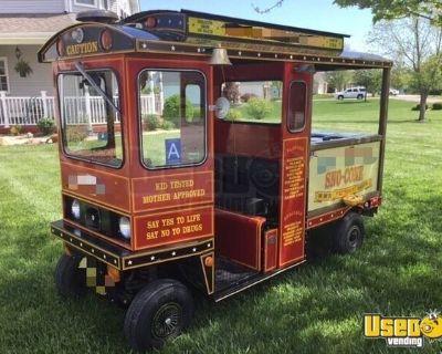 Custom Cushman Truckster Circus Style Snow Cone Trolley Mini Truck for sale in Missouri!