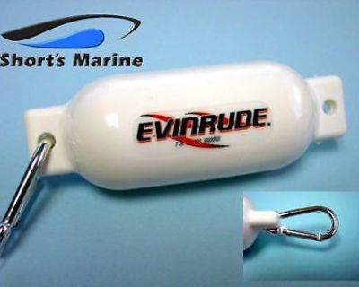 Brp Evinrude E-tec White Boat Fender Floating Key Chain 0766399