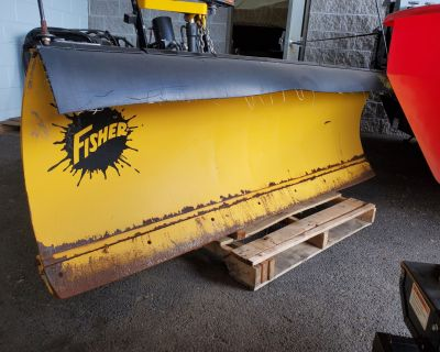 """USED UNITS Used Fisher 7'6"""" HD Minute Mount Snow Plow Blades Harrisburg, PA"""