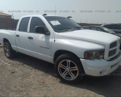 Salvage White 2002 Dodge Ram 1500