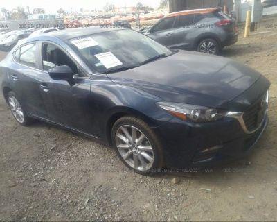 Salvage Blue 2017 Mazda Mazda3 4-door