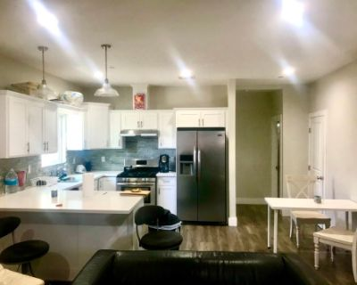 Modern Kitchen and Living Room Space. Podcast Recording Setup, Los angeles, CA