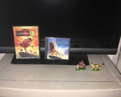 Lot Of The Lion King DVD, Music CD And Figures