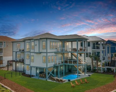 Duneside Rendezvous Luxury Tidal Creek View Home with Private Pool and Pool heating option - Ocean Isle Beach