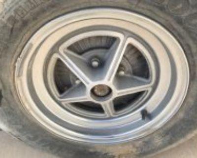 Aluminum drums, Kelsey Hayes Magstar rims, 38 Dodge drop axle