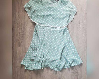 C. Luce dotted lace trim dress - medium