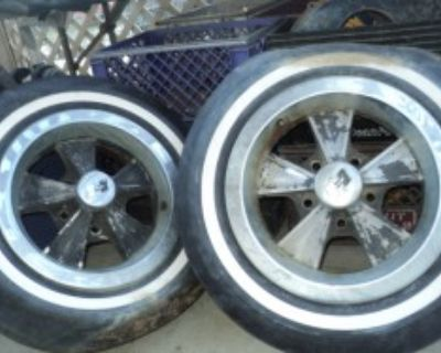 14x6 original hurst wheels 5x5 complete