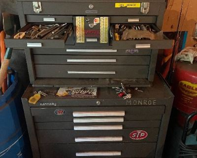 Packed man sale in Taylor garage packed with car parts , Machinist tools, toolbox kits, & More