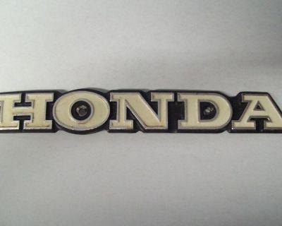 Very Nice, Factory Orignal, Honda Cb360 Tank Emblem