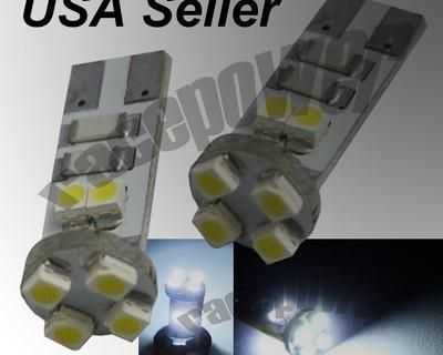 T10 8 Smds Led White Light Canbus No Error W5w 168 194 192 1a Bulb License Plate