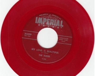 DUKES ~ My Love Is Beautiful*Mint-45*RARE RED WAX !