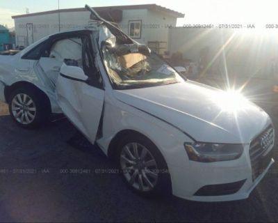 Salvage White 2014 Audi A4