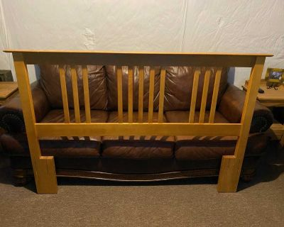 Full-size bed frame The widest part of the head/foot boards is 66