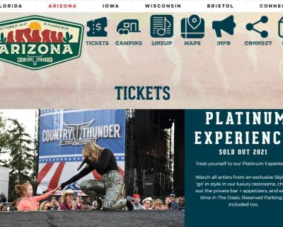 Country Thunder Platinum Tickets