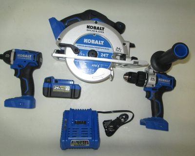 Kobalt Impact, Drill, And Saw Set In Great Shape