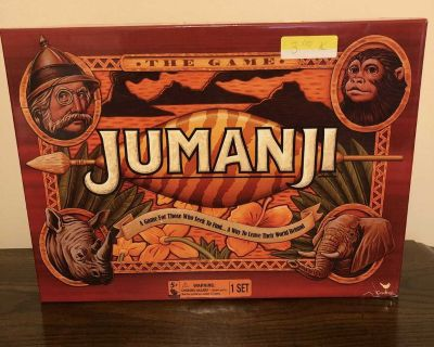 Jumanji Board Game. Pick up at McCalla Piggly Wiggly on Thursday s from 5:15-6pm.