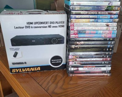 DVD Player & Lot of DVDs