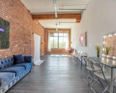 Stylish DTLA Studio with Brick Wall, Los Angeles, CA