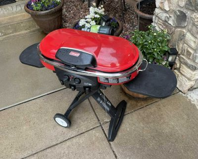 Coleman road trip grill - great for camping and hunting Pick up Powers and briargate
