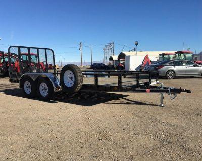7x16 Tandem Axle Utility Trailer, ATV, UTV, Toy Hauler, PJ UL162 GVWR 7,000 lb