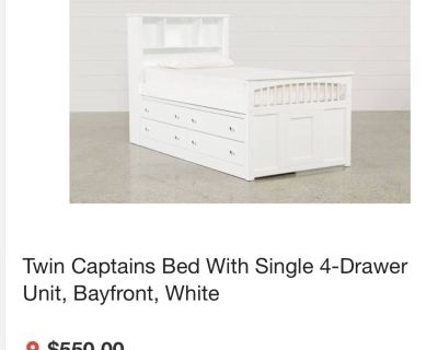 Twin Captain Bed with 4-drawer unit