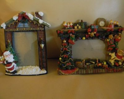 2 Marco Festivo Christmas Holiday Picture Frames