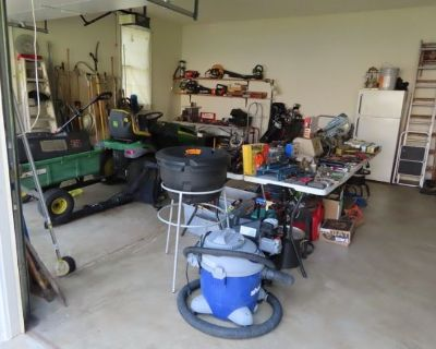 John Deere Riding Mower, Tools, MCM, Collectibles. House and Garage FULL!