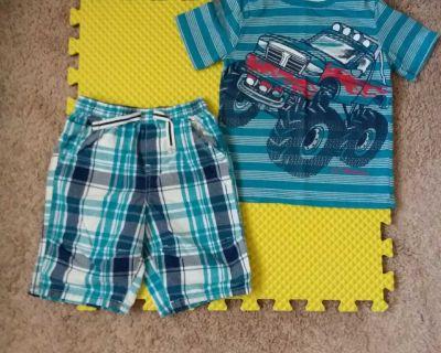Toughskins Boys Size 7 Monster Truck Shorts Set